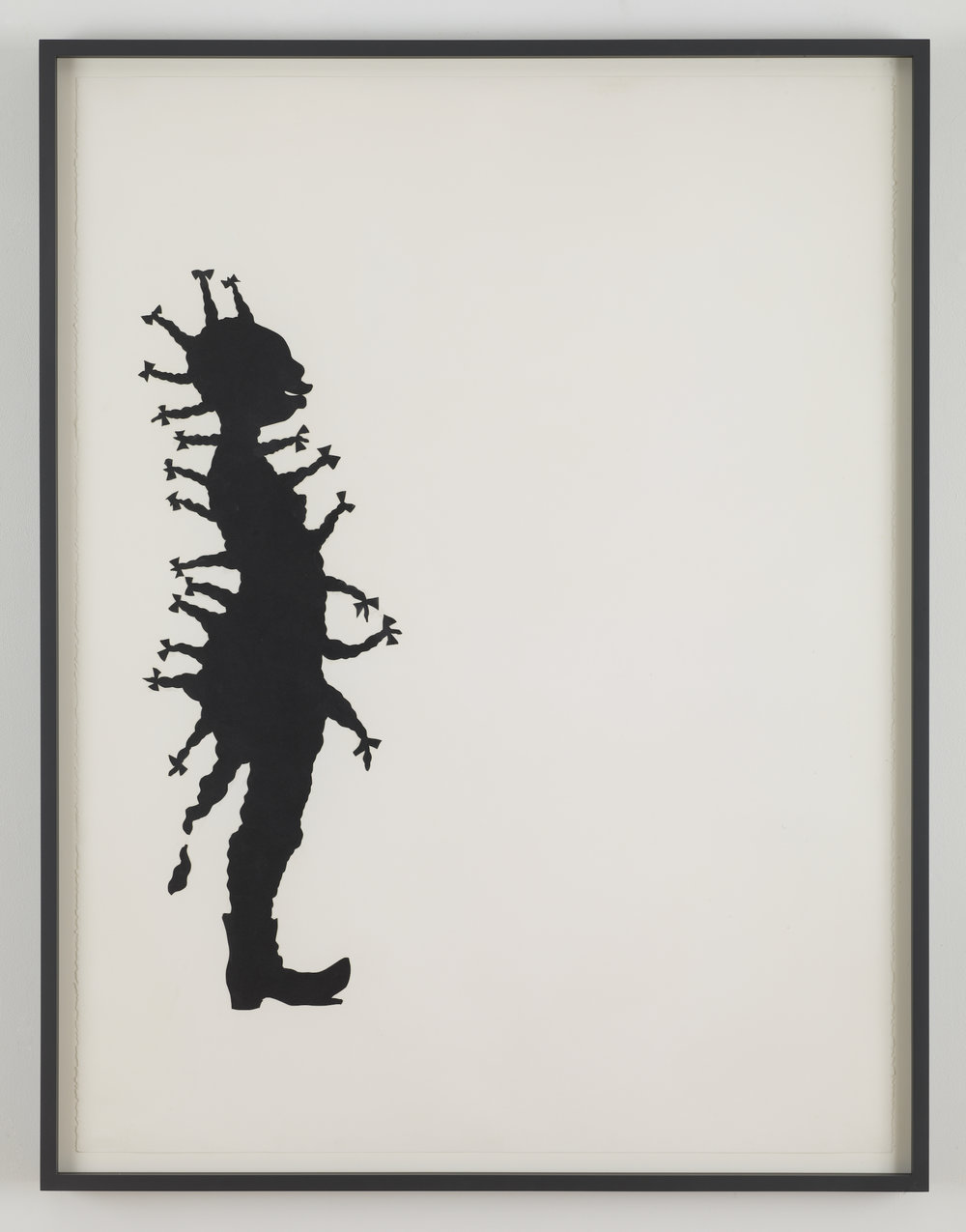 Kara Walker,  Bow , 1994. Cut paper on paper, 50 x 38 inches.