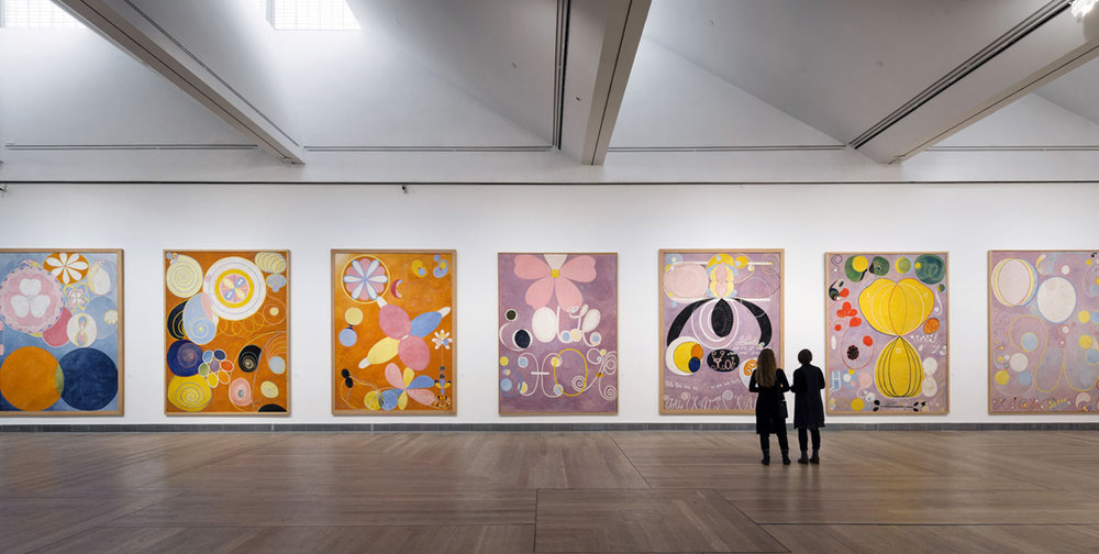 Installation view, Hilma af Klint—A Pioneer of Abstraction, 2013. Image by Åsa Lundén/Moderna Museet