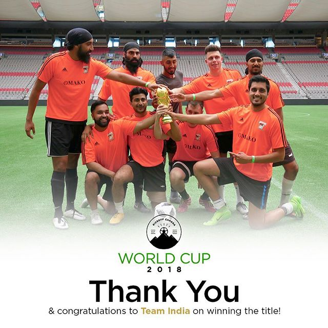 As our #KOCWorldCup18 comes to an end, we want to thank all the teams, volunteers, guests and referees that joined us today ❤️ Hosting our event at BC Place was the biggest and boldest step we have taken as an organization and we were truly taken aback with all the love and support 🙏  We'd like to congratulate team India for winning their first ever KickOff World Cup tournament 💯🇮🇳 Proceeds from our tournament will benefit Variety - The Children's Charity of BC and Room to Read Vancouver ⚽️
