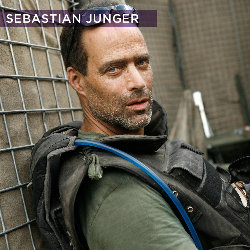 "Sebastian Junger,  author of  The Perfect Storm  and  WAR  ,  is one of America's most acclaimed writers. He is also a documentary filmmaker whose  Restrepo , a feature-length documentary chronicling the deployment of a platoon of U.S. soldiers in Afghanistan's Korengal Valley, was nominated for an Oscar.      Sebastian's latest film, a documentary from HBO films titled  Which Way Is The Front Line From Here? , chronicles the life and career of frequent collaborator and close friend Tim Hetherington, who passed away in the war zones of Libya.      As a contributing editor to  Vanity Fair  and as a contributor to ABC News, he has covered major international news stories around the world, and has been awarded the National Magazine Award and an SAIS Novartis Prize for Journalism. He has also written for such magazines as  Harper's ,  The New York Times Magazine ,  National Geographic Adventure ,  Outside  and  Men's Journal . His reporting on Afghanistan in 2000, profiling Northern Alliance leader Ahmed Shah Massoud, became the subject of the National Geographic documentary ""Into the Forbidden Zone"".  He lives in New York and on Cape Cod."
