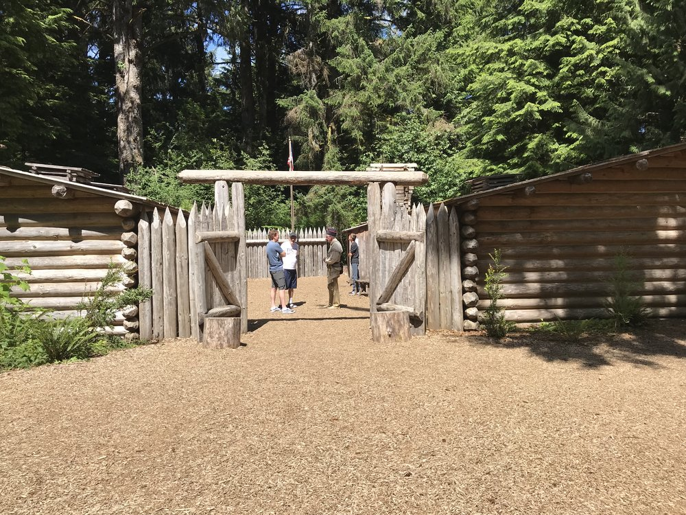 We stopped at Fort Clatsop, where Lewis and Clark spent the winter on their expedition.
