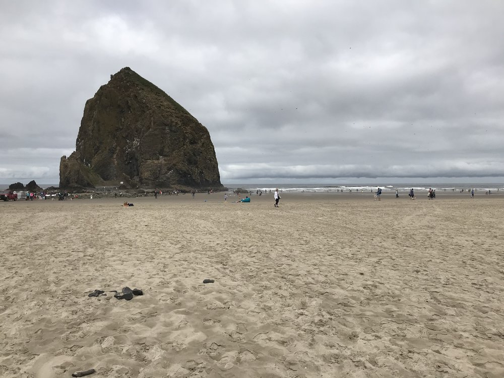 A pit stop at Cannon Beach.