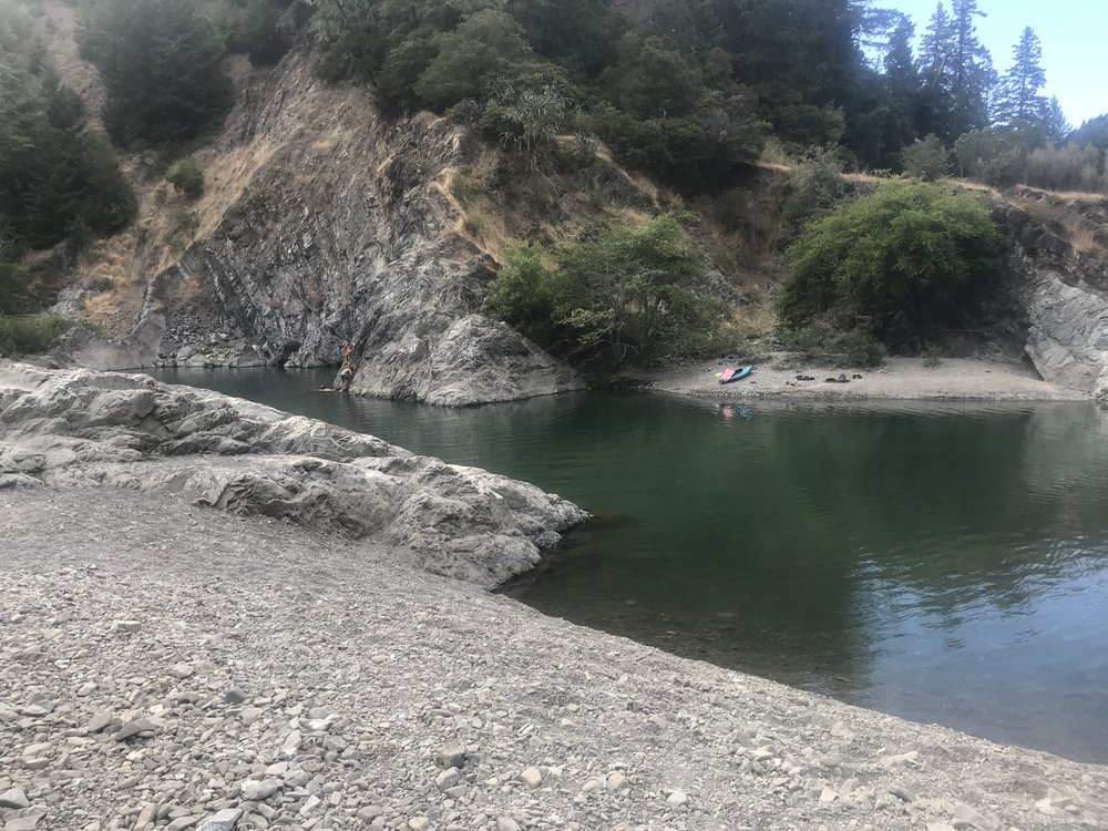 Ending the day at this amazing river swimming hole.
