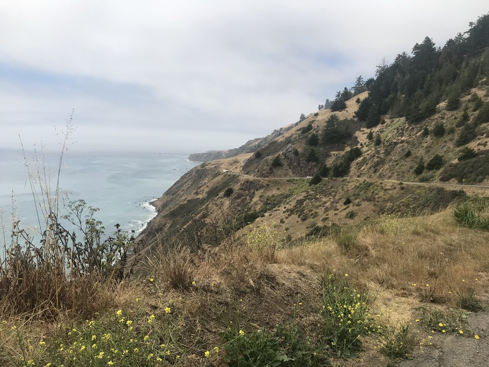 Not gonna lie, the climb and descent after Fort Ross was terrifying (Jacob says it was fun). A crazy series of switchbacks along a cliff edge. But the view was pretty spectacular.