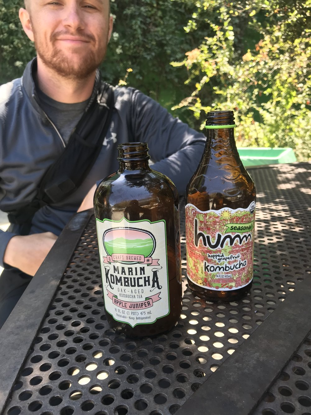 Lucky for us they had many flavors of kombucha.