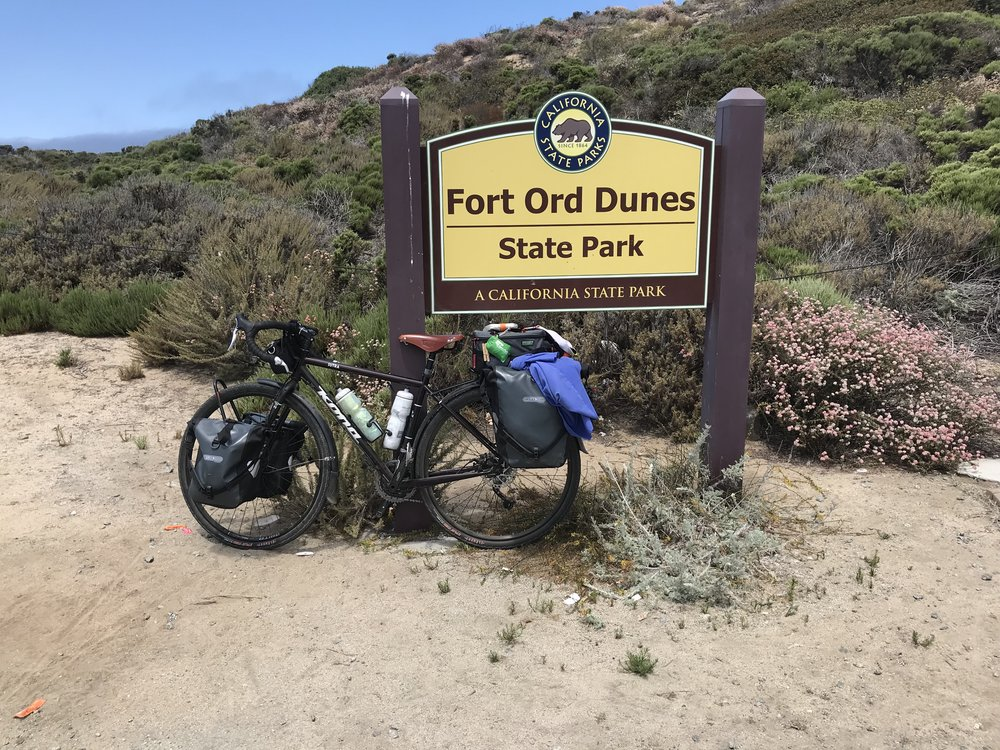 Rode through the dunes just before Monterey.