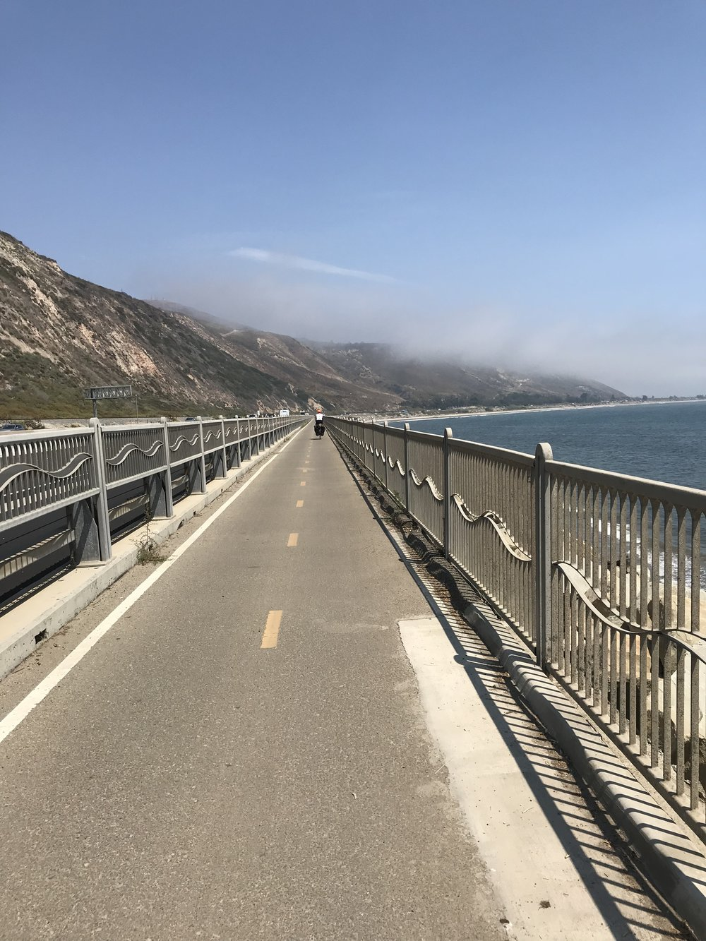 Bike path leading into Ventura.
