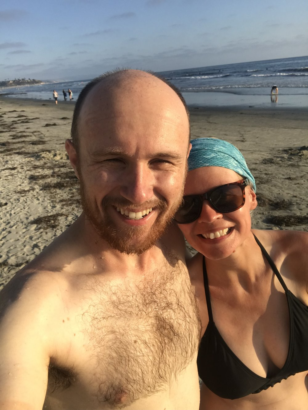 Went for a quick swim once we got to San Elijo. The water was warm!