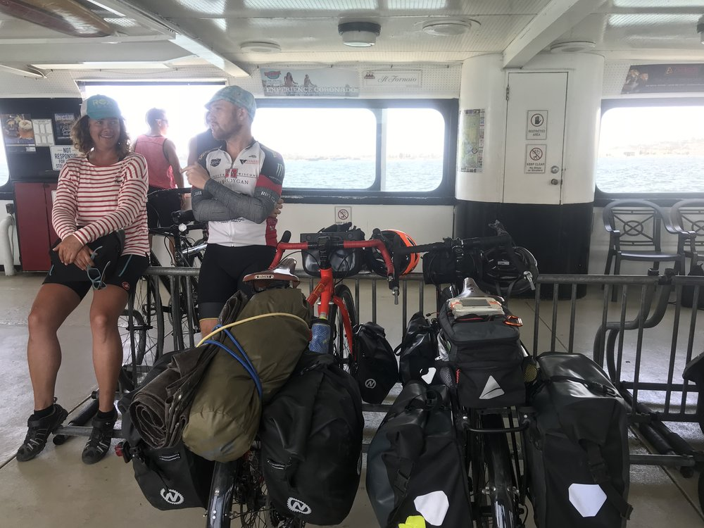 We bumped into Sabine again on the ferry! She's the German who's been riding the same route as us. After finishing this ride, she's going back up to Oregon and is going to start biking east across the US!
