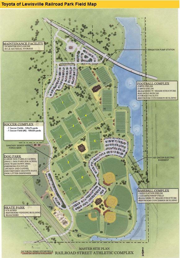 Maps — Velocity Elite FC Dallas Field Map on