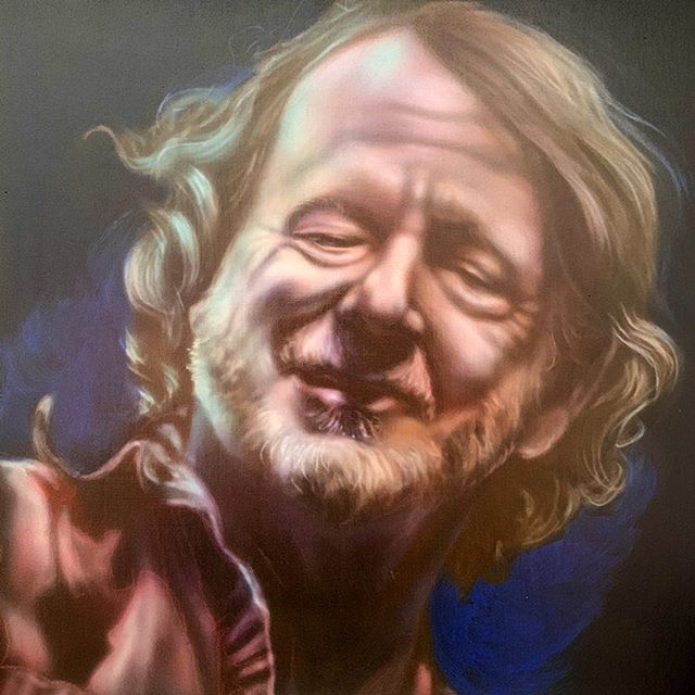 'JB' 12x12 acrylic on wood. Excited to share this item from my #etsy shop: John Bell https://etsy.me/2XMUMuH (search: Palmer Square Studios on Etsy.com) #wsp #wsmfp #johnbell #airbrush #airbrushonwood