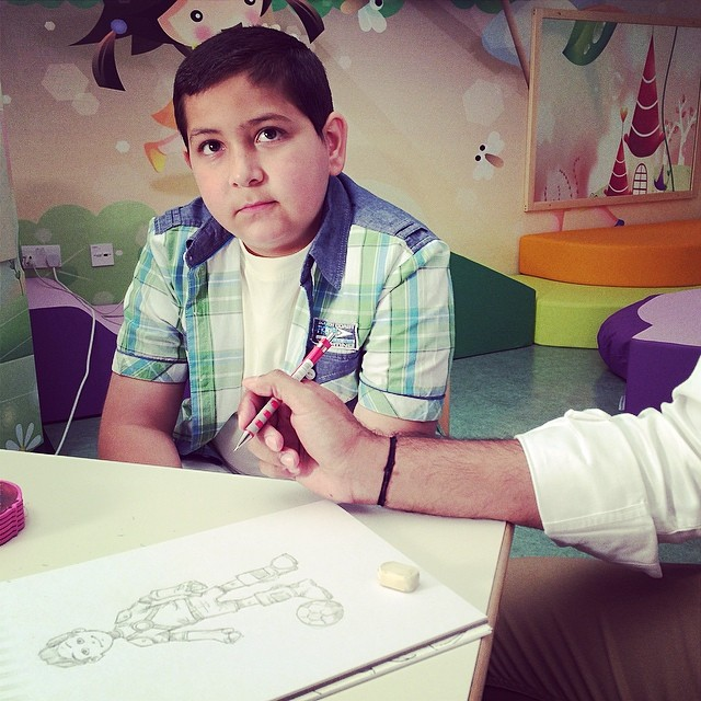 Meet Super Omar. Excited to learn about his super powers once his sketch is done! #ThinkSuper #SuperHope #superpower #love #positivity