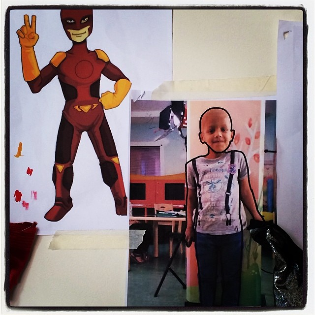 Super Khalifa illustrated & ready for costume production #thinksuper #superhope #superhero #superpower #kids #cancer #awareness #hope #love #initiative