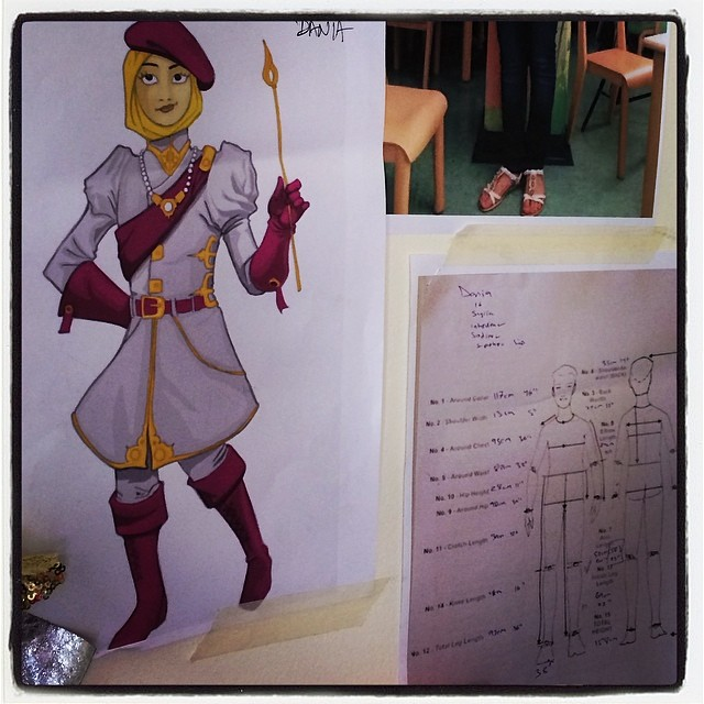 Super Dania's costume and measurements in check! Excited for its production #thinksuper #superhope #superhero #superpower #costume #design