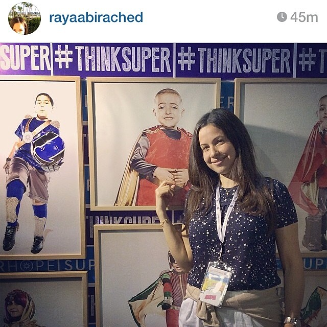 Thank you @rayaabirached for your amazing support. It's an honor to have you supporting our initiative. We believe that hand in hand we can extend hope and spread positivity to our heroic children #thinksuper #superhope