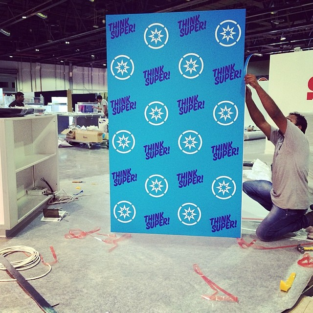 It's coming together and looking great! #thinksuper #superhope #blue #prints #graphics #production #comiccon #children #cancer #awareness #mydubai