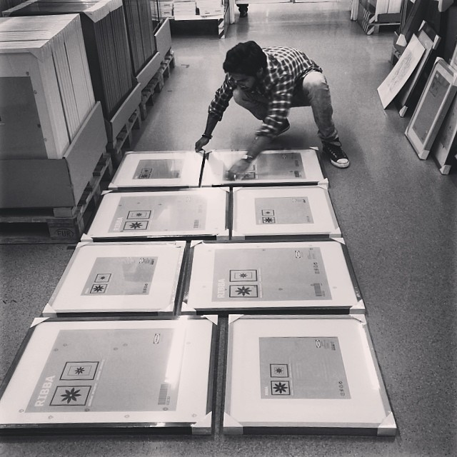 Selecting our frames to insert our Superheroes professional photos taken by no other than #TinaPatni #thinksuper #superhope #superheroes #power #children #cancer #awareness #frames #wood #photos #mydubai