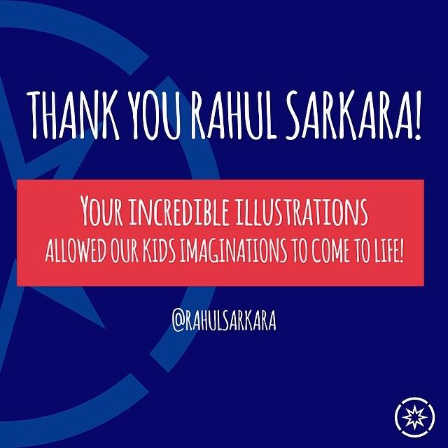 Thank You to our partner Rahul Sarkara #rahulsarkara #superhope #thinksuper #illustrations #art #comiccon #children #cancer #awareness #dubai