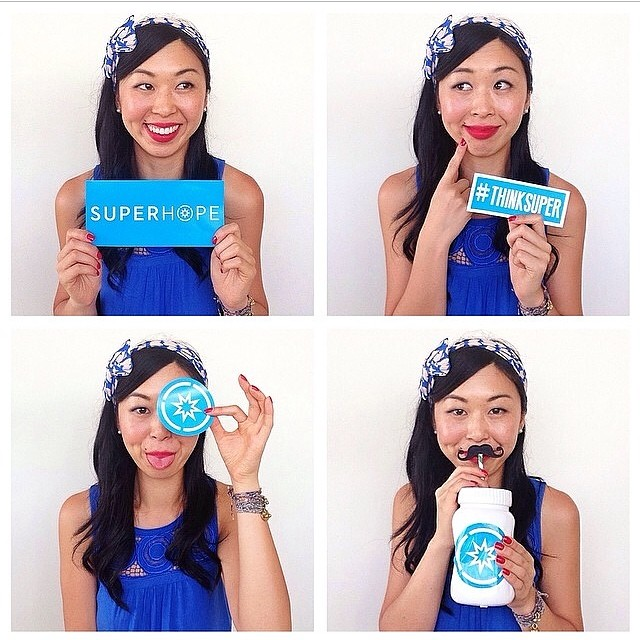 Cute Karen of @secretsquirrelfood Thinking Super with Superhope! To show your support head down to @toilandtinker and collect a cool sticker to place on your car, your laptop, or lunchbox :D Snap a pic for a chance to be featured on our Instagram and to do a really awesomely cool thing. #thinksuper #superhope #children #cancer #awareness