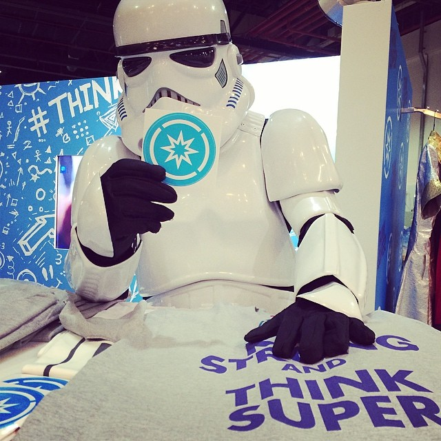 Storm Trooper Supporting SuperHope at Comic Con #stormtrooper #superhope #thinksuper #mefcc #starwars #mydubai