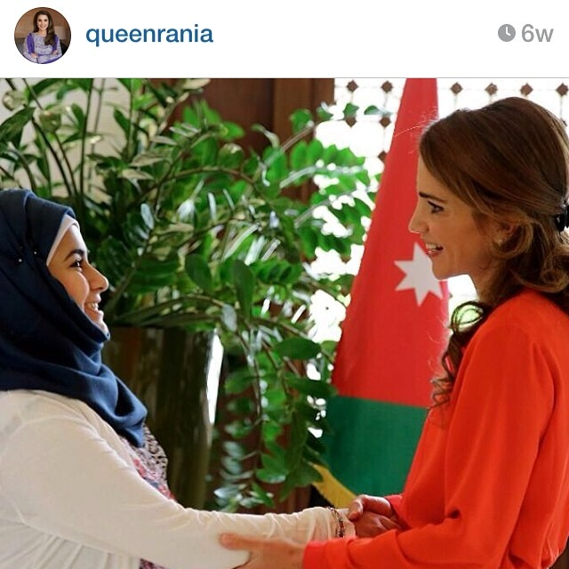 Our SuperDania with @queenrania in Jordan. We are so proud of her and her great strength, wishing her more love and hope #superhope #thinksuper #superlove #love #hope #queenrania #superdania #socialenterprise #positive #energy #initiative #children #fighting #cancer #dubai #jordan