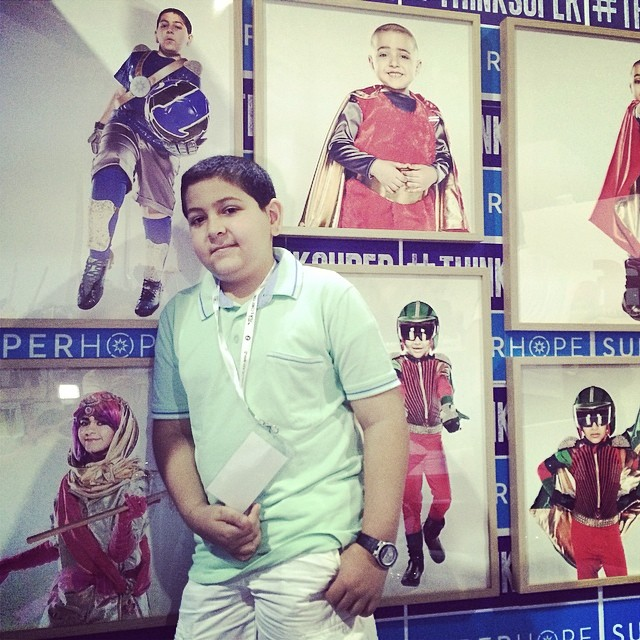 Super Omar at the SuperHope stand! Come down for a photo with one of our Superheroes! #thinksuper #superhope