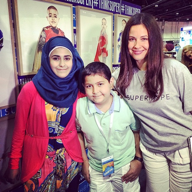 @rayaabirached with our Superheroes #superDania #superoOmar #superhope #thinksuper