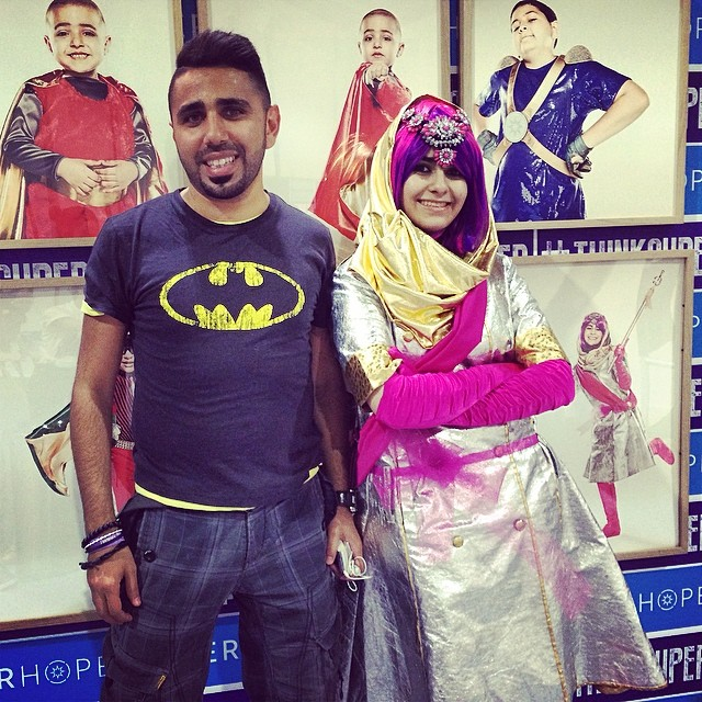 Fans pose with one of our superheroes #superdania #thinksuper #thinkpositive #batman #children #cancer #awareness