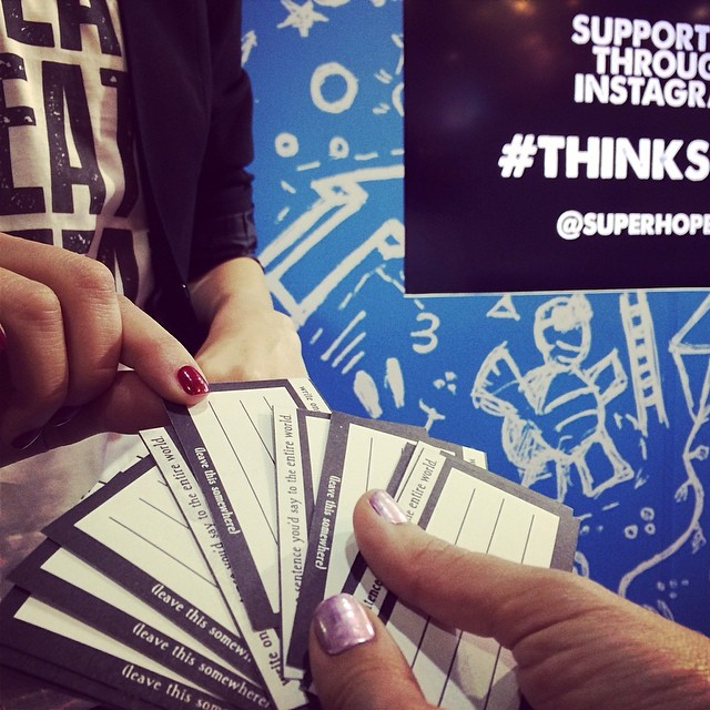 Cool fortune cards by @neuronsaway who stopped by our stand to support us and extend hope #thinksuper #superhope #livelovelaugh