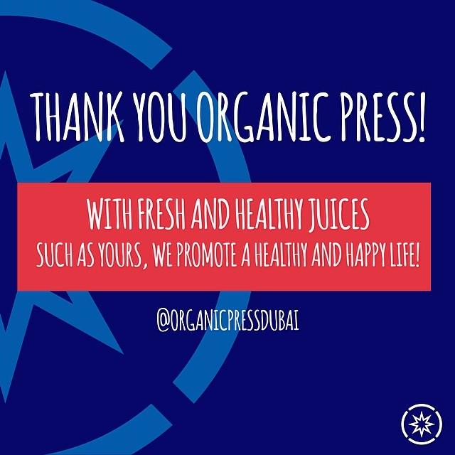 Thank You to our partner! @organicpressdubai #superhope #thinksuper #organic #pressedjuice