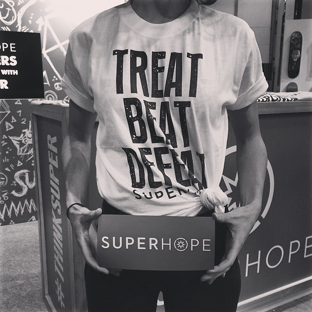 Treat. Beat. Defeat. At  Superhope we believe in boosting one's positive mental attitude through positive attitude & experiences to help those who are battling survive their battle! #superhope #thinksuper #love #positive #energy #fight #cancer