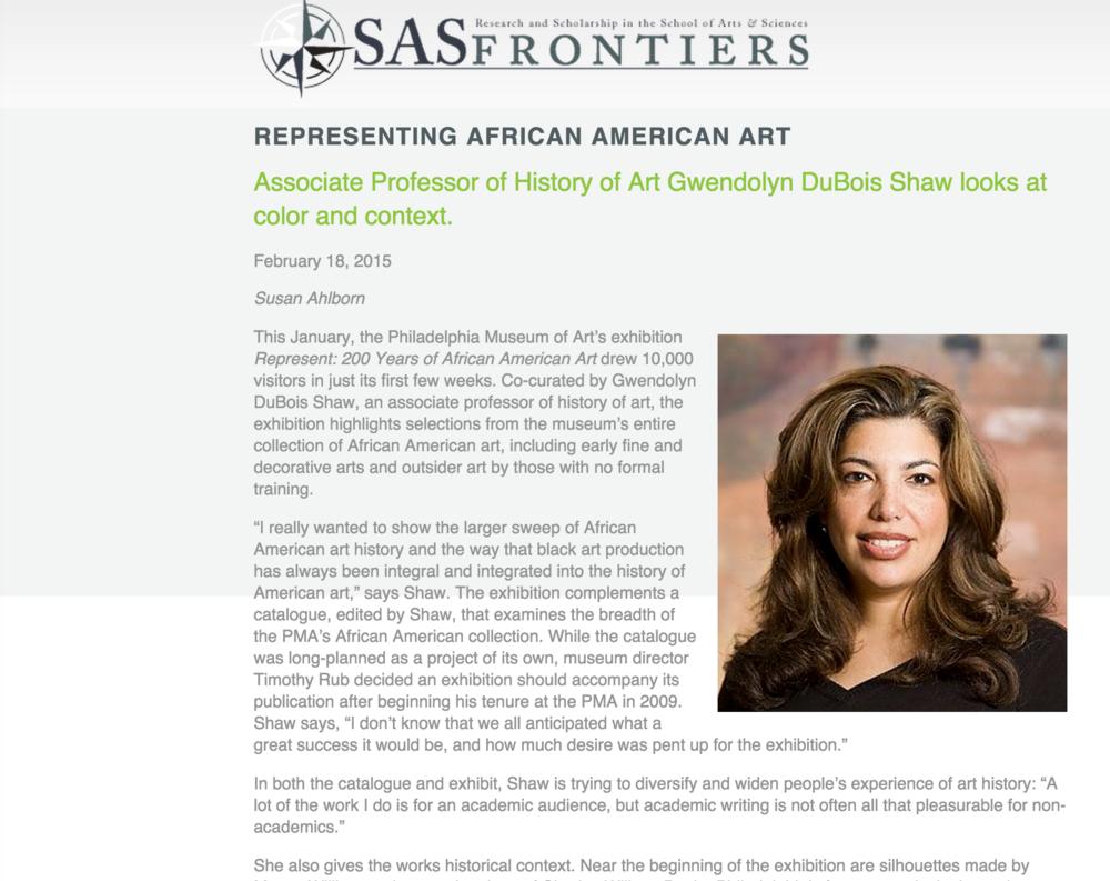 SAS Frontiers, Representing African American Art