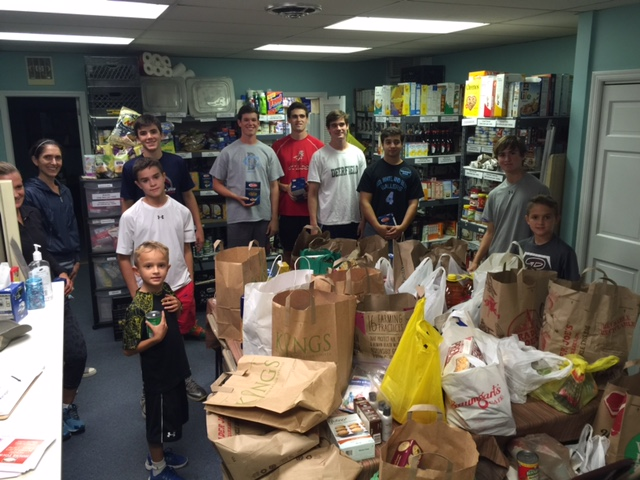 Busy day for SSA.  Food drive at Temple Israel in Ridgewood.  Ninety bags of food were collected from members attending Yom Kippur services.  Ridgewood residents helped receive food, transport it to the pantry and shelve it.