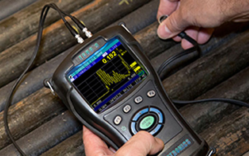 "RUGGED INSTRUMENT<a href=""/danatronics""></a><strong>Echo 9 Ultrasonic Thickness Gage</strong>"