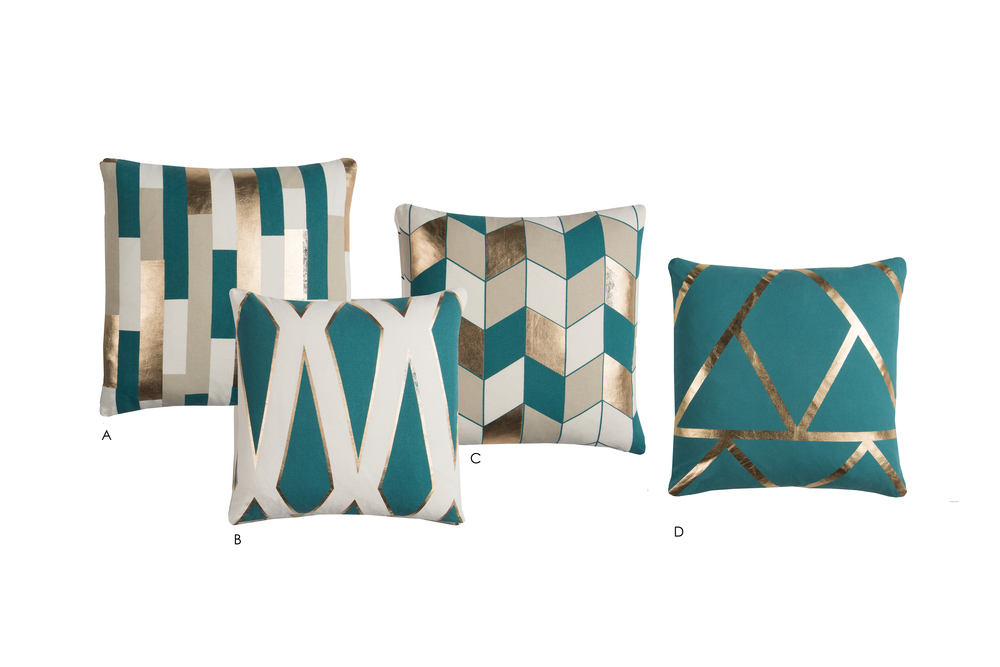 Rachel Kate Metallic Pillows