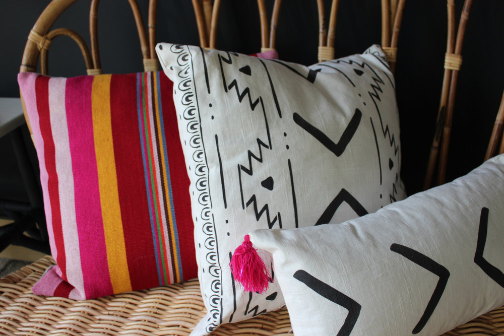Rachel Kate Stencil Pillows