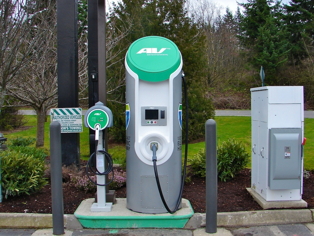 An example of one of AeroVironment's DC Fast Charging stations along the world's first EV tourism corridor between Seattle and Wenatchee, Wash.