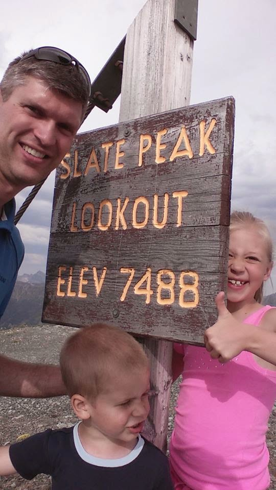 Slate Peak Lookout: 7,488ft.