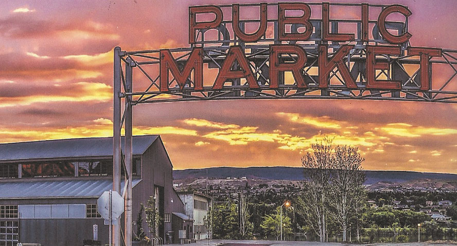 Downtown Wenatchee's Pybus Public Market - the newest location in our ever-expanding charging station network.