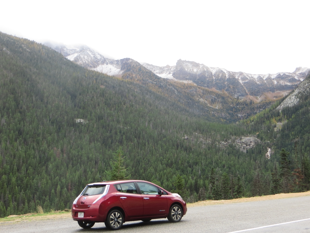 Taking in the natural beauty of the North Cascades Highway. EVs really can go anywhere.