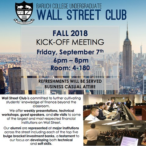 Hello everyone! Join us this Friday, September 7th from 6PM-8PM in NVC 4-180 for our first meeting of the semester. We look forward to seeing you all there! #BaruchWSC