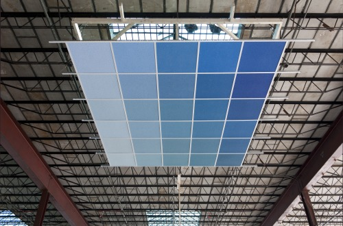 Aaron Koehn,  drop ceiling painted the color of sky from memory,  2013