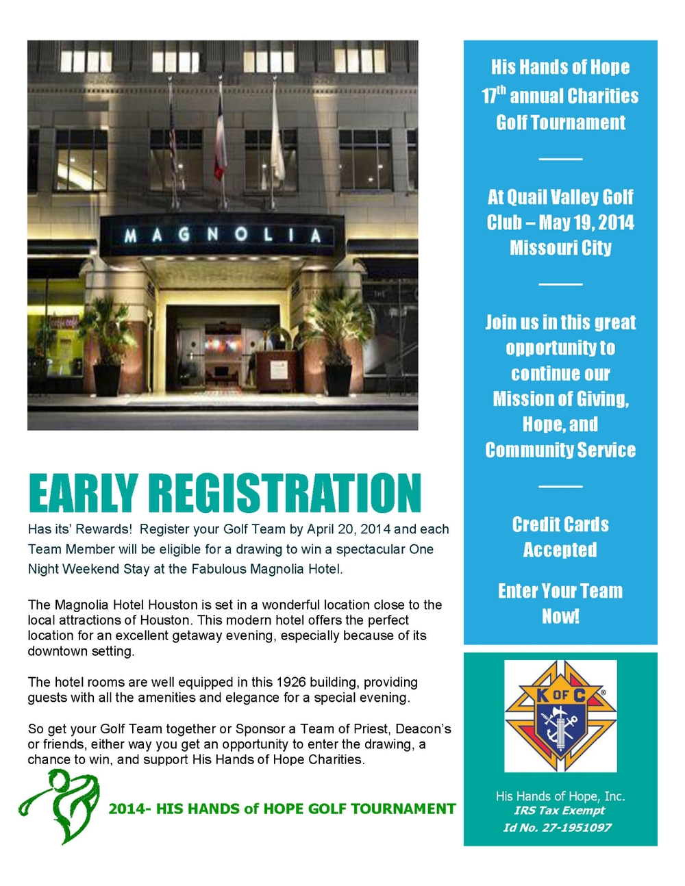 Register Before Easter Sunday (April 20, 2014)