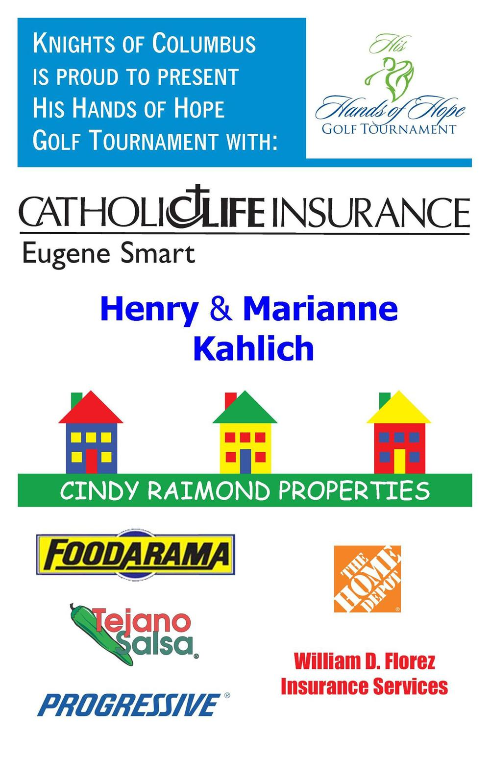 PAST SPONSORS - our 17th annual HHH Golf Tournament (aka 2014) Major Sponsors