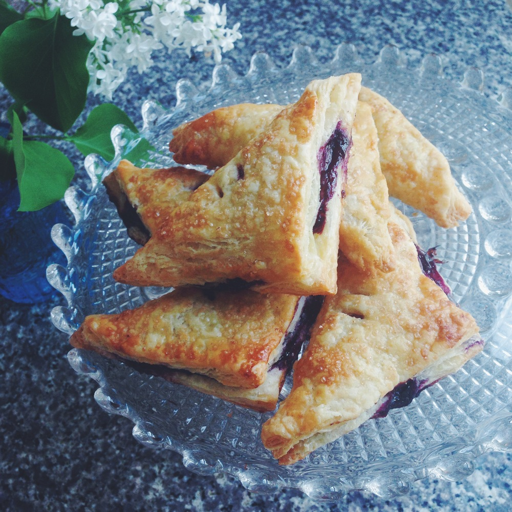 Blueberry Mascarpone Turnovers