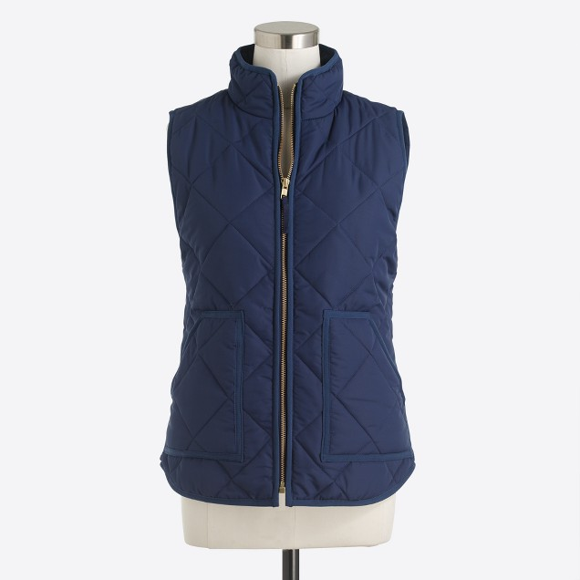 Quilted Puffer Vest  - Just because fall is over doesn't mean you have to stop wearing them. They're now on sale for $35!