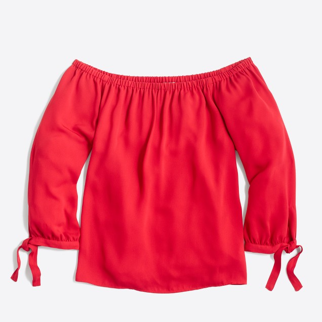 On Sale for $24 - You know me and my off the shoulder tops! I can't refuse this top especially since it comes in red.