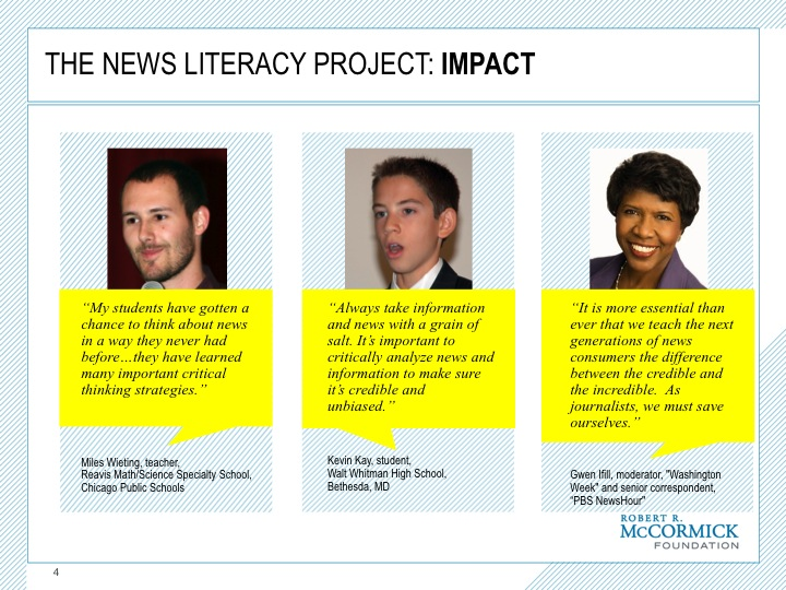 news literacy In response to the current crisis of credibility and authenticity in mainstream and alternative media, media literacy is increasingly being seen the solution.