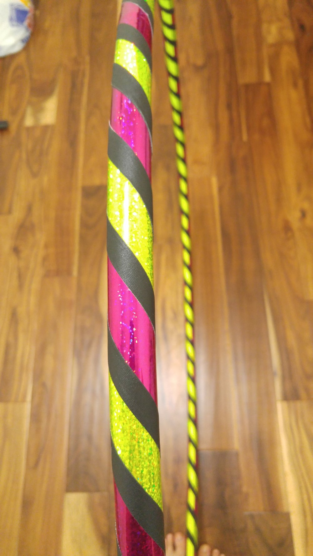 Yellow & Magenta Sparkle w/ Black grip