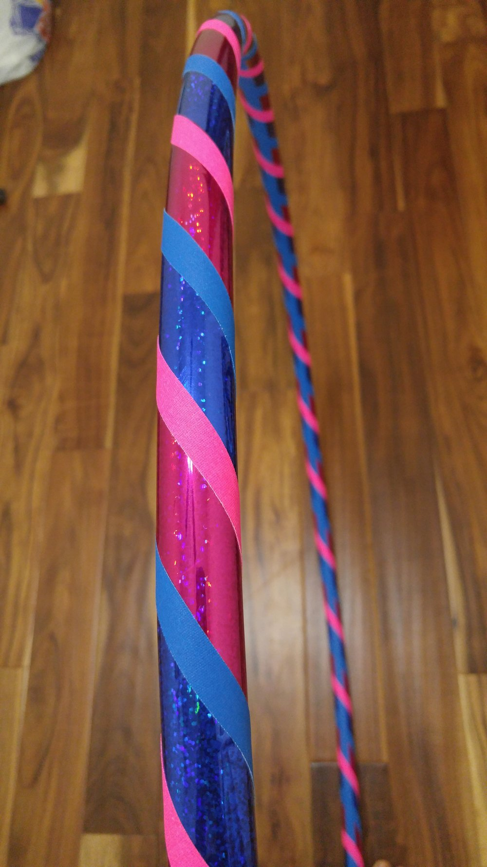 Dark blue & Magenta sparkle with blue & pink grip accent